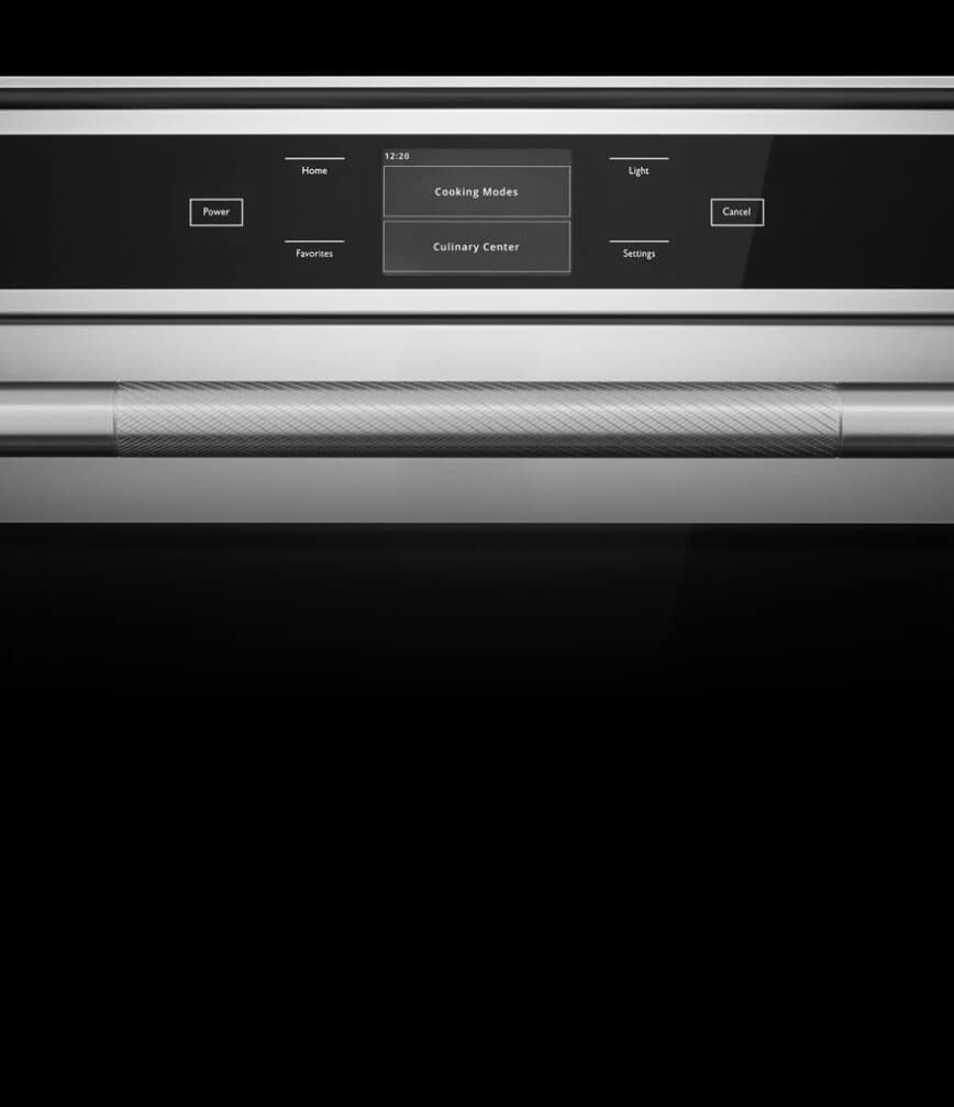 The display on the 24-inch wall oven.