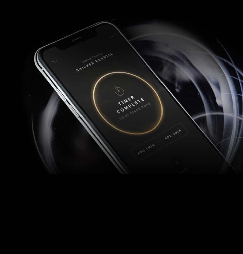A timer on the JennAir® App.