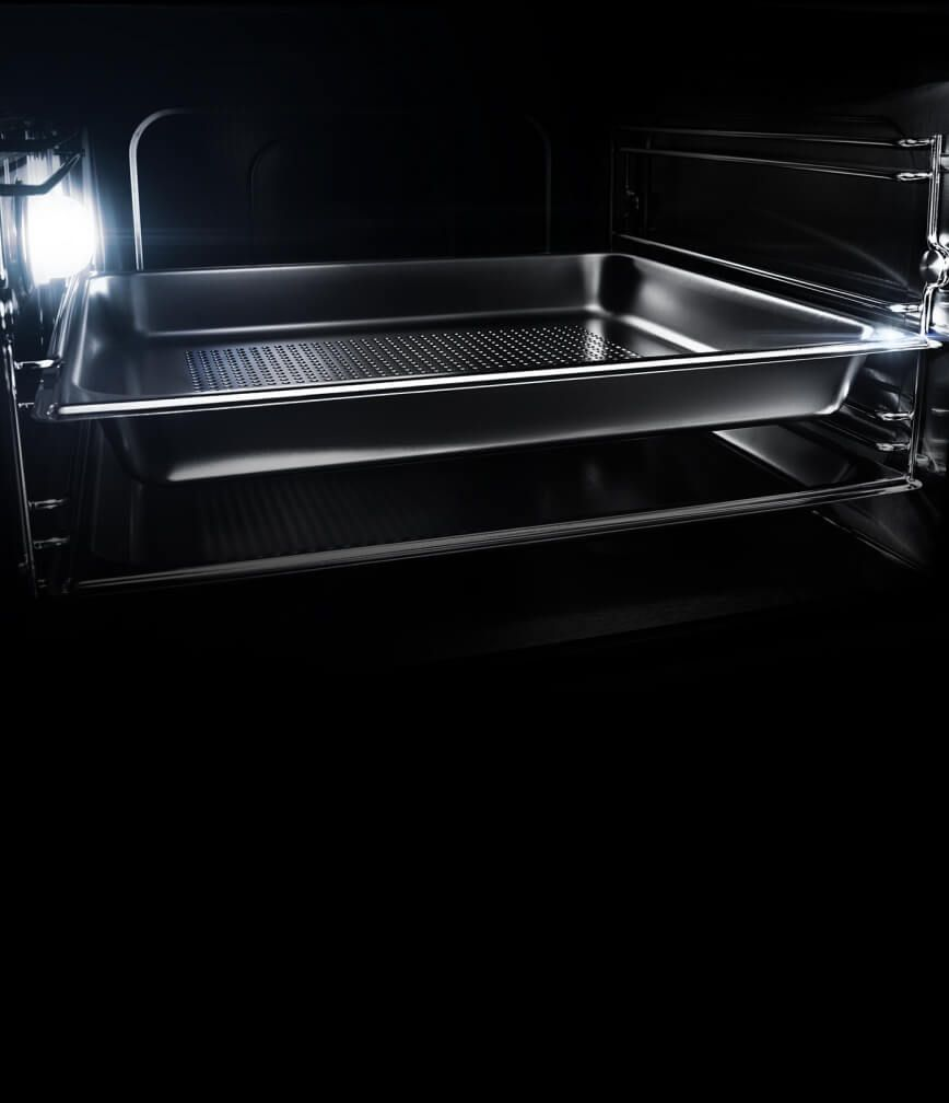 The interior of a JennAir® Steam Oven.