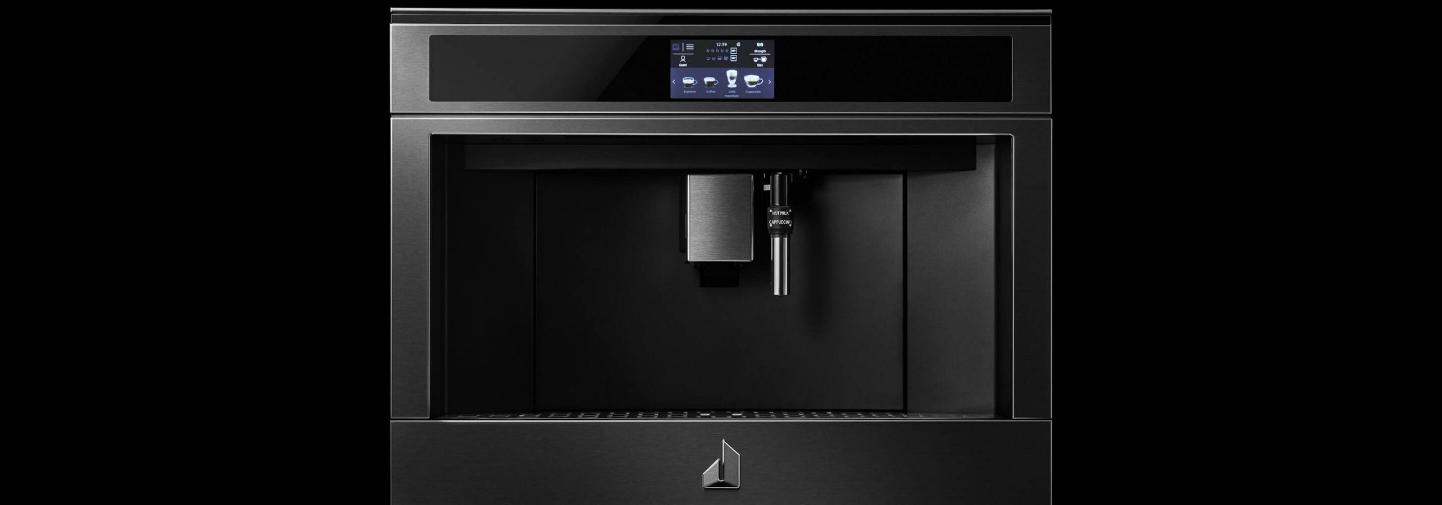 The JennAir® 24-inch built-in coffee maker.