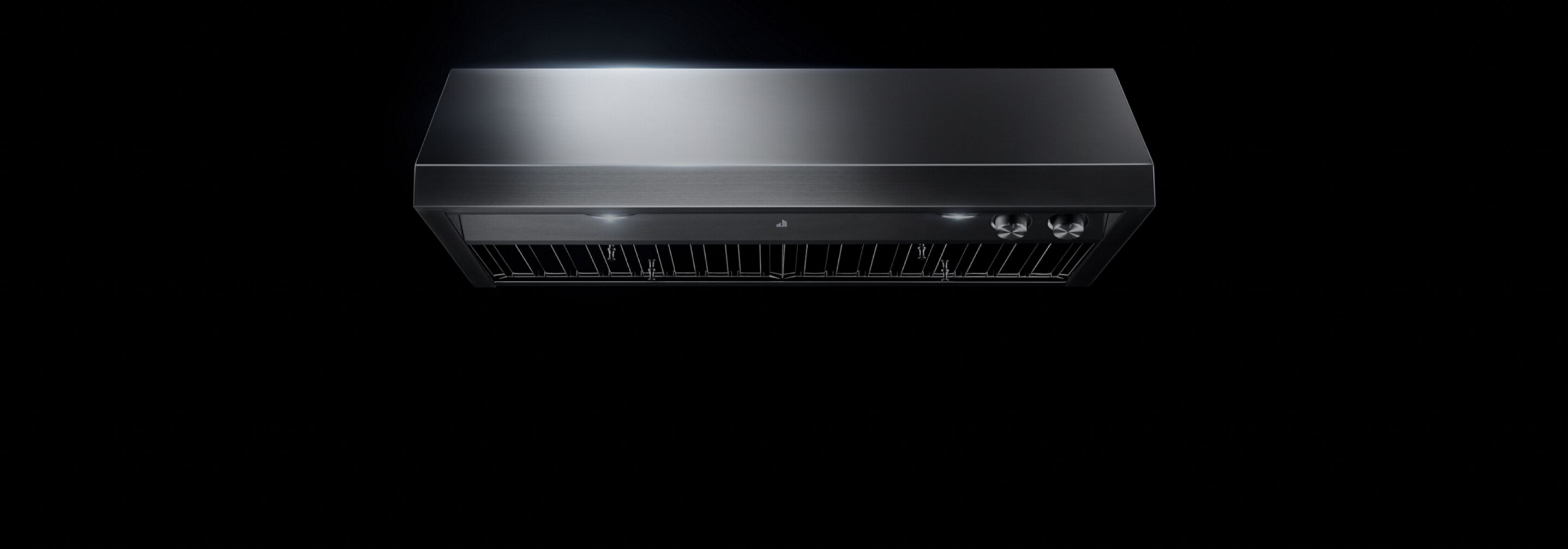 A professional-style under cabinet vent hood.