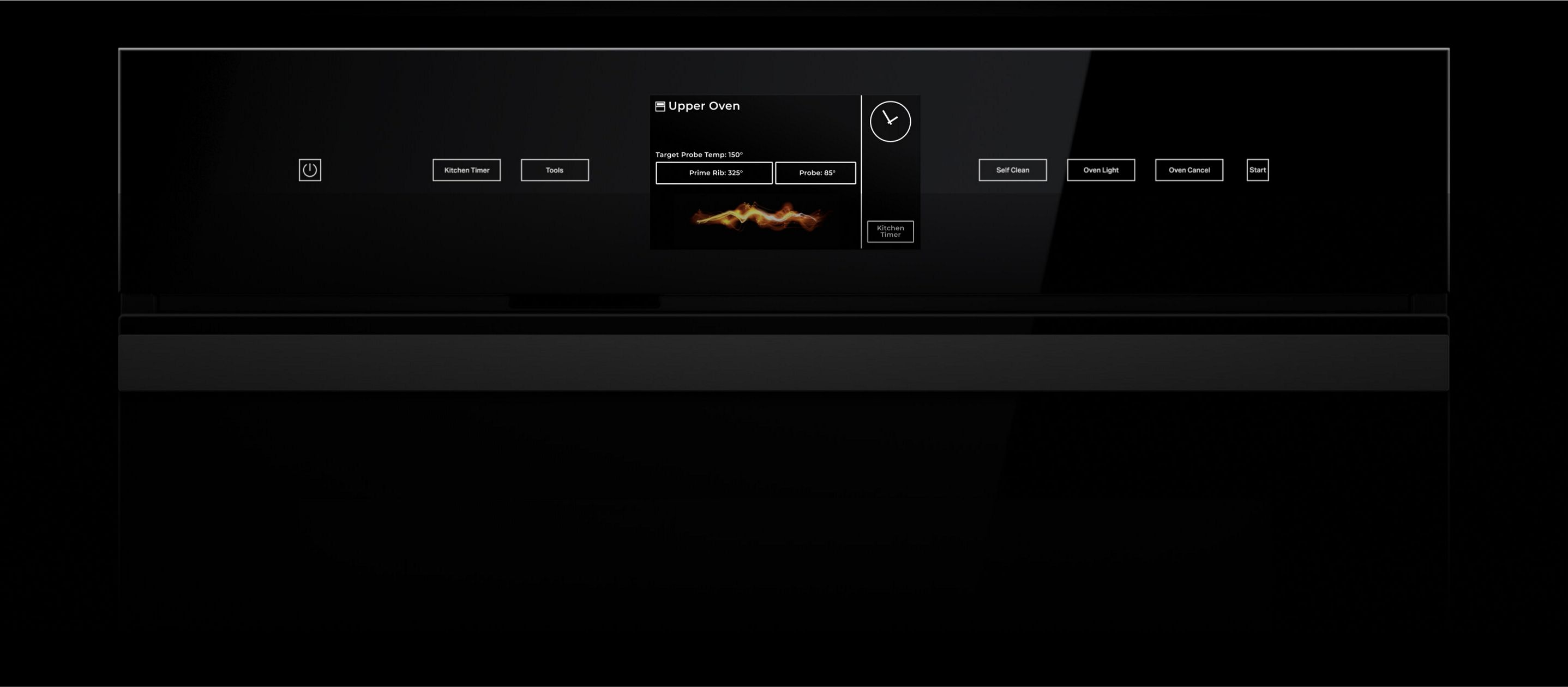 The display of a JennAir® Double Wall Oven.