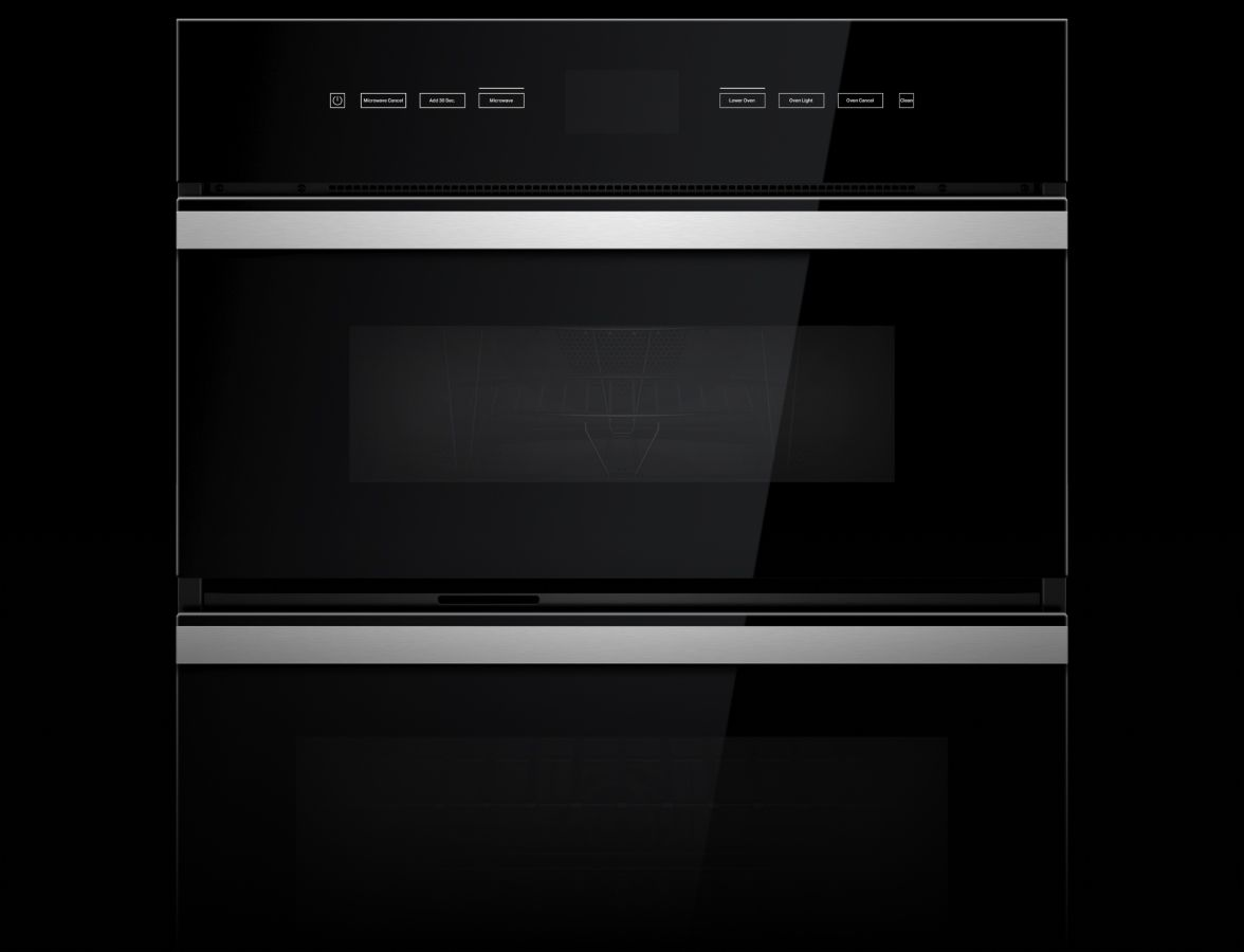 A JennAir® Combination Wall Oven in the NOIR™ Design Expression.
