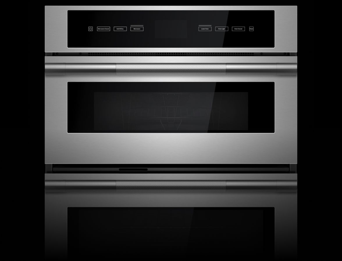 A JennAir® Combination Wall Oven in the RISE™ Design Expression.