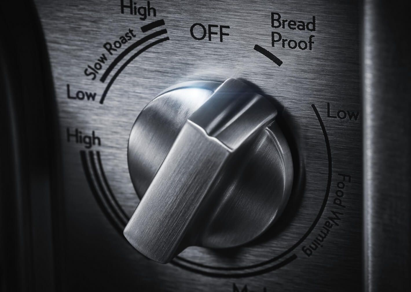The control knob set to bread proofing.
