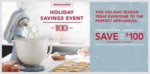 Take advantage of great savings on select KitchenAid® home appliances.