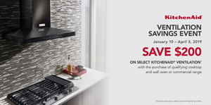 Save $200 on select KitchenAid® Ventilation