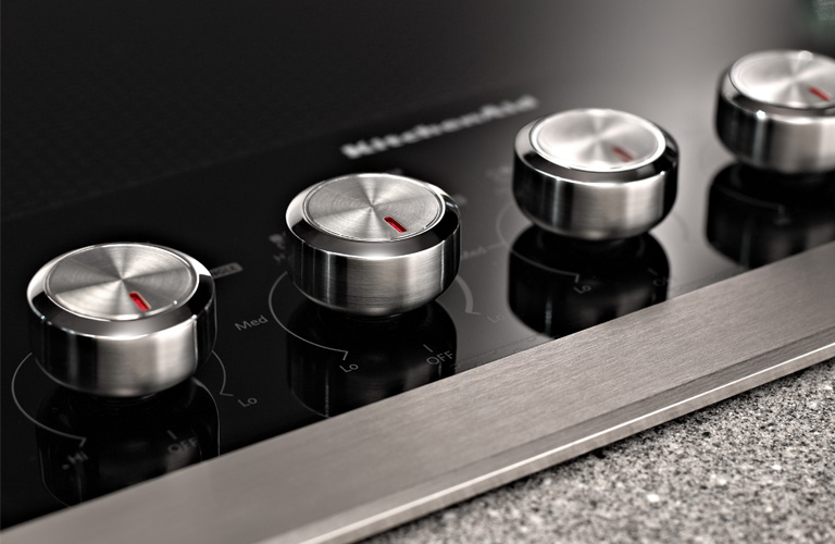 KitchenAid Electric Cooktop - Close Up Knobs Detail