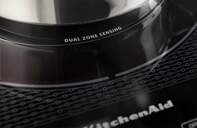 KitchenAid Electric Cooktop - Dual Zone Sensing Detail
