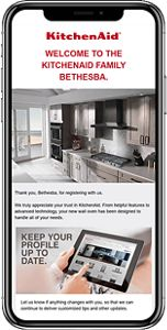 Phone showing an email of how to get started with new appliance