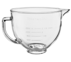 KitchenAid® glass bowl for tilt-head stand mixers.