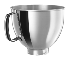 KitchenAid® polished stainless steel bowl for tilt-head stand mixers.