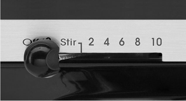 The speed setting lever on a KitchenAid® stand mixer.