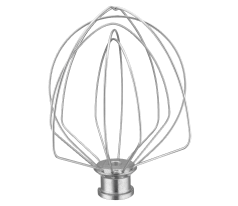 KitchenAid® 6-wire whip for bowl-lift stand mixers.