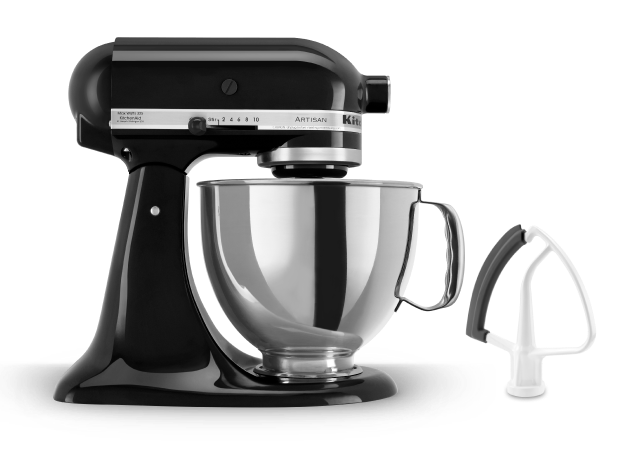 Value Bundle Artisan® Series 5 Quart Tilt-Head Stand Mixer with Flex Edge Beater.