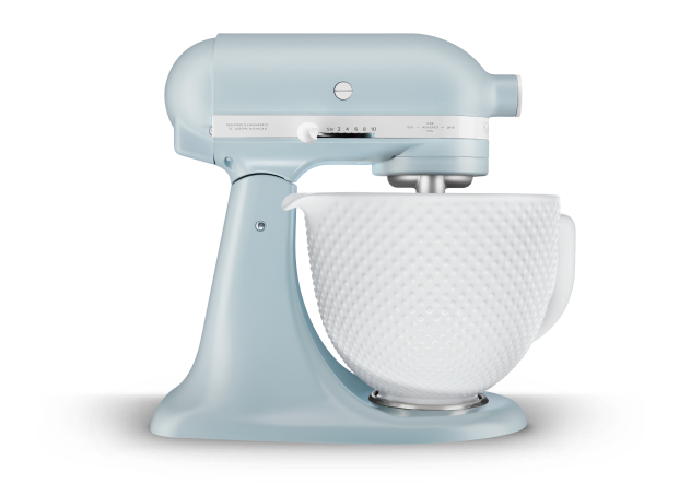 Limited Edition Heritage Artisan® Series Model K 5 Quart Tilt-Head Stand Mixer with Ceramic Bowl.