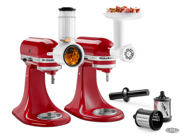 Food Grinder + Fresh Prep Slicer/Shredder Attachment Bundle.