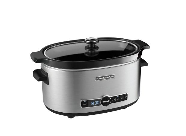 KitchenAid® Slow Cooker with Solid Glass Lid.