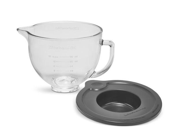 KitchenAid® 5 Qt Tilt-Head Glass Bowl with Measurement Markings & Lid.