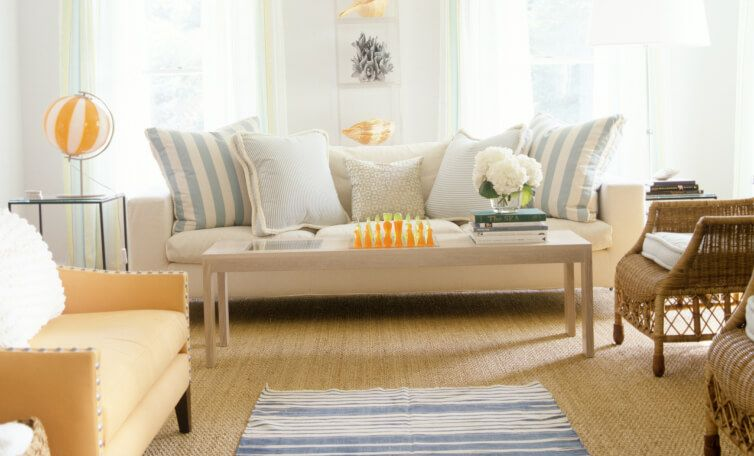 A clean, bright living room.