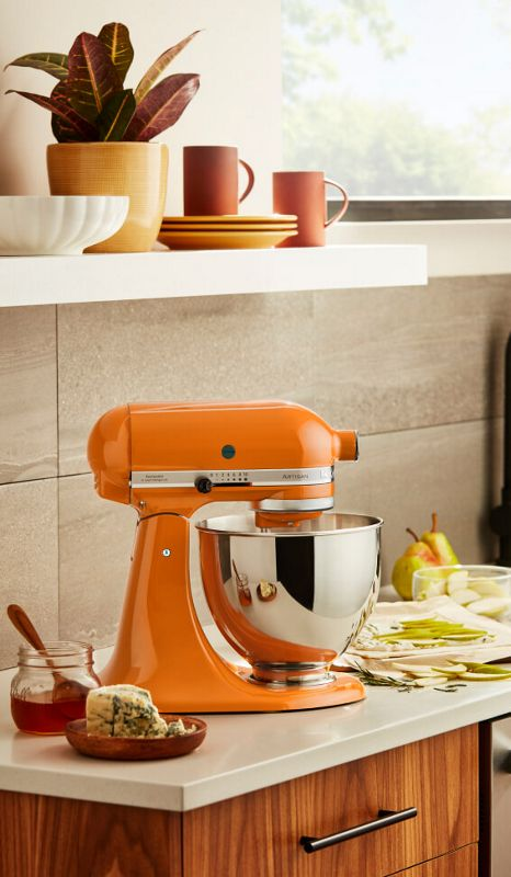 An Artisan® Series Stand Mixer in Honey.
