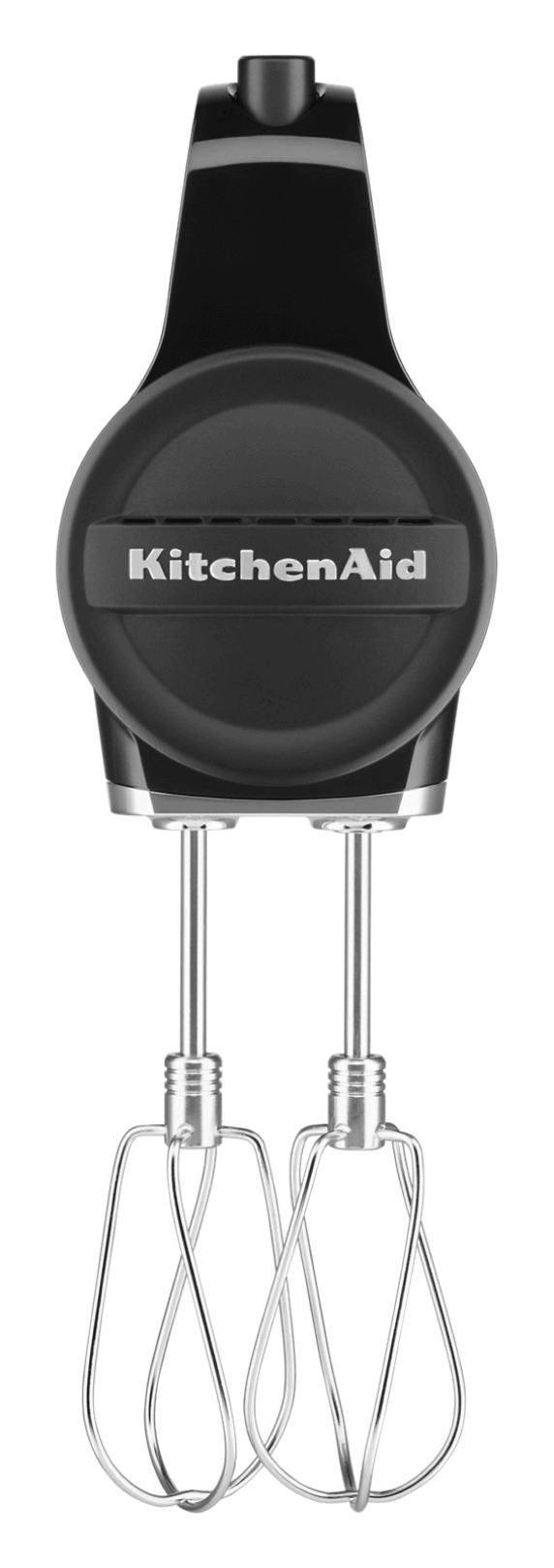 KitchenAid Black Matte Cordless Hand Mixer.