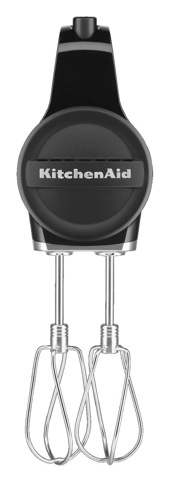 KitchenAid Black Matte Cordless Hand Mixer.