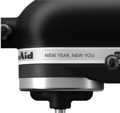 KitchenAid® tilt-head stand mixer with personalized custom engraving.