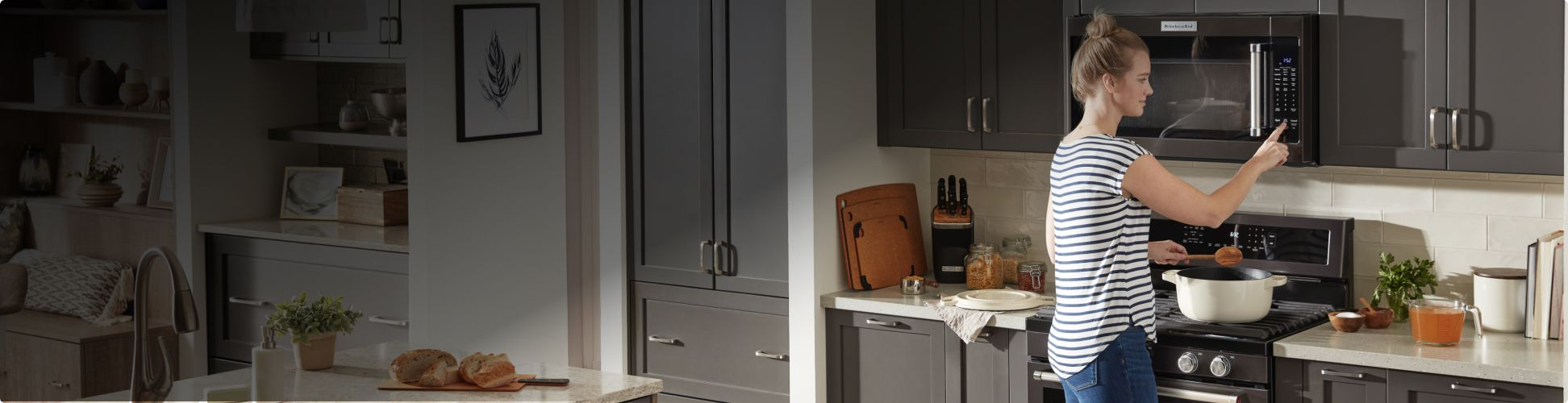Cooking with a KitchenAid® Range and Microwave..