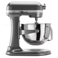 KitchenAid® Tilt-Head Stand Mixer with Stainless Steel Bowl in Pearl Metallic.