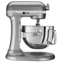 KitchenAid® Tilt-Head Stand Mixer with Stainless Steel Bowl in Silver.