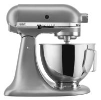KitchenAid® Deluxe 4.5 Quart Tilt-Head Stand Mixer in     Silver.