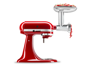 KitchenAid® stand mixer shown with attachment