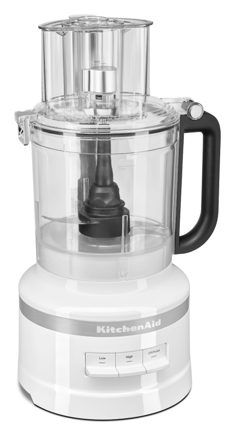 A White 13 Cup Food Processor.