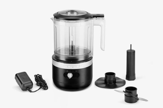 KitchenAid® cordless food chopper.