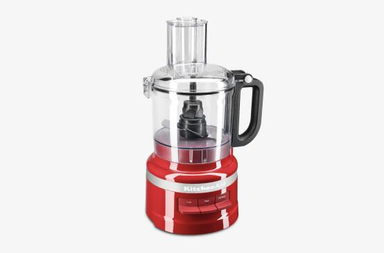 KitchenAid® food processor in Empire Red.