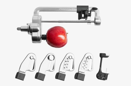 Stand mixer attachments for peeling.