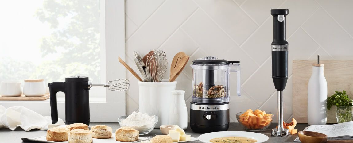 KitchenAid® cordlesss countertop appliances.