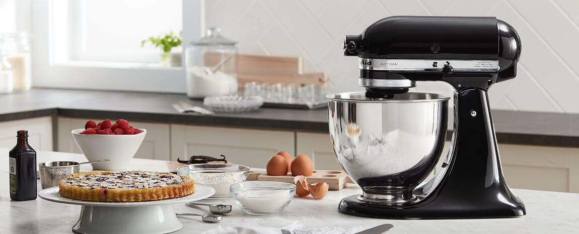 Countertop equipped with a KitchenAid® Stand Mixer.