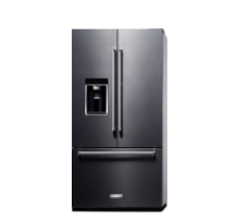 Un refrigerador KitchenAid tipo French Door color negro,da click para explorar electrodomésticos mayores