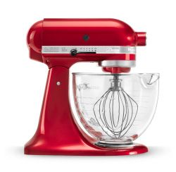 KitchenAid® Artisan® Design Series 5 Quart Tilt-Head Stand Mixer with Glass Bowl KSM155GBCA