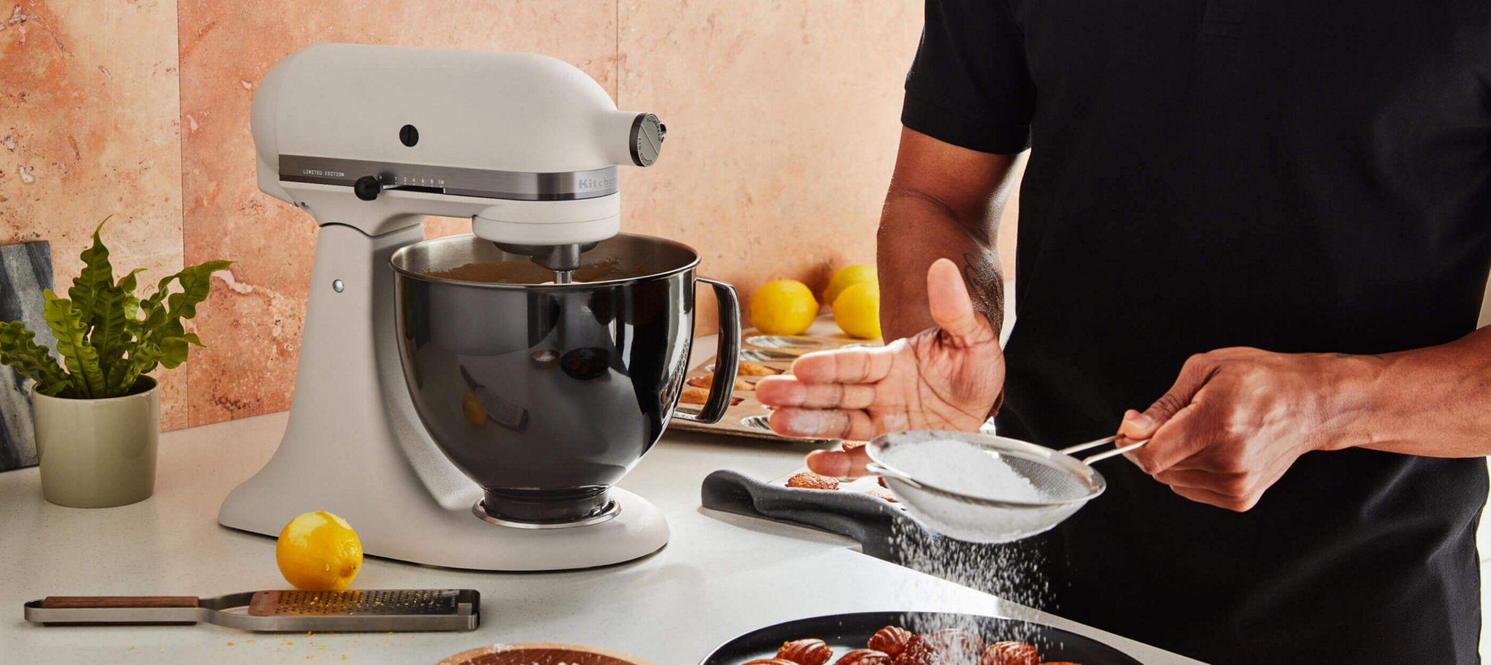 A Limited Edition Stand Mixer with a Stainless Steel Bowl.