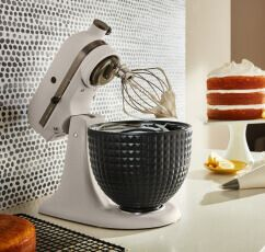 A Limited Edition Stand Mixer with a Ceramic Studded Bowl.