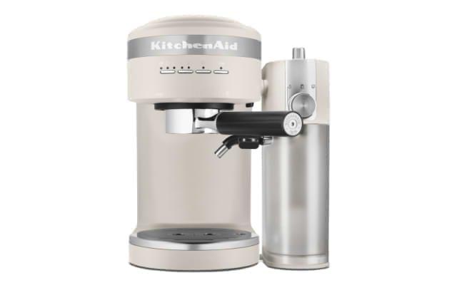 A Semi Automatic Espresso Machine with Automatic Milk Frother Attachment in Milkshake.