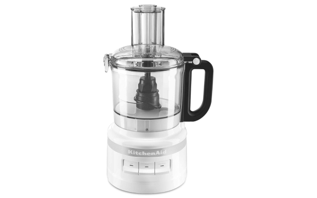 A white 7 Cup Food Processor.
