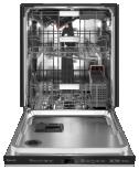 Empty KitchenAid® FreeFlex™ Third Rack Dishwasher with stainless interior