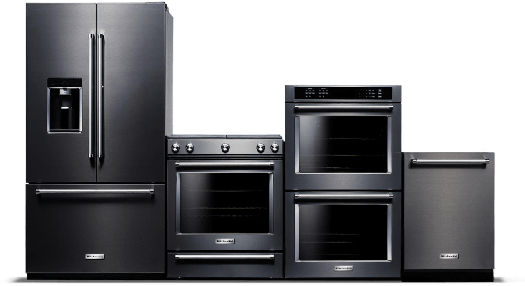 Kitchenaid® black stainless steel Suite