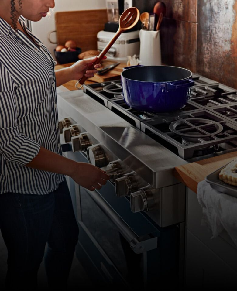 A person cooking.