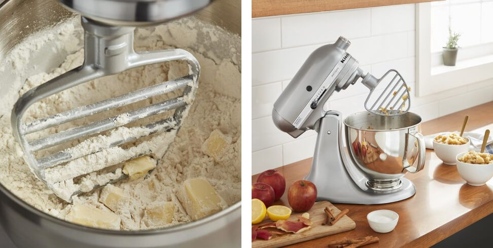 A Tilt-Head Stand Mixer with the Pastry Beater Accessory.