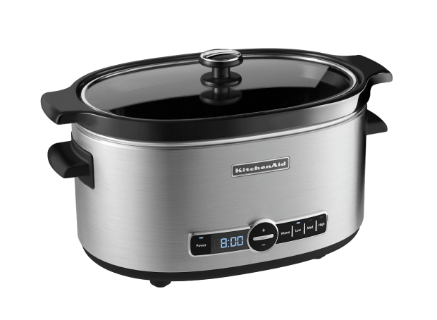 6-Quart Slow Cooker with Solid Glass Lid.